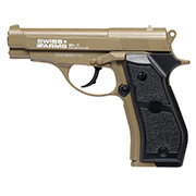 Swiss Arms P84 CO2 Pistole NBB Kal. 4,5mm Stahl BB Vollmetall tan