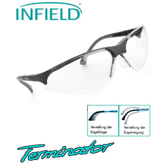 Infield  Brille Terminator, PC AS UV, Gl�ser transparent , B�gel schwarz
