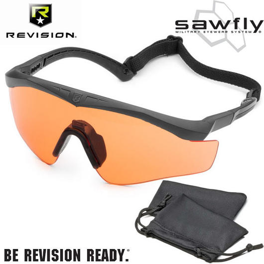 Revision Brille Sawfly MAX-Wrap Basic Kit vermillion / schwarz