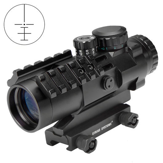 Strike Systems Tactical Red-/Green-Dot Scope mit Zusatzschienen 3x32mm schwarz