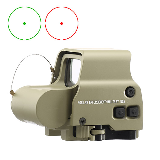 Aim-O X2 Type Holosight rot / grün mit QD Mount tan AO 3056-DE