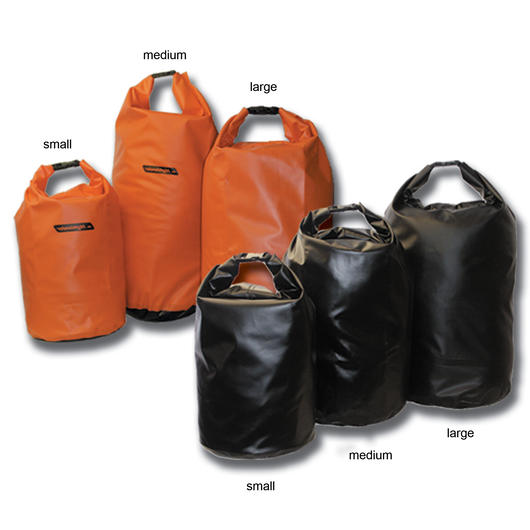 Highlander PVC Packsack 16 Liter wasserfest orange