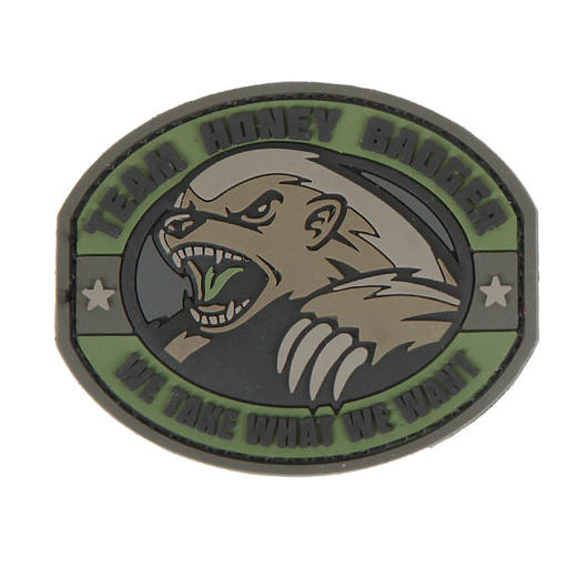 3D Rubber Patch Honey Badger Forest