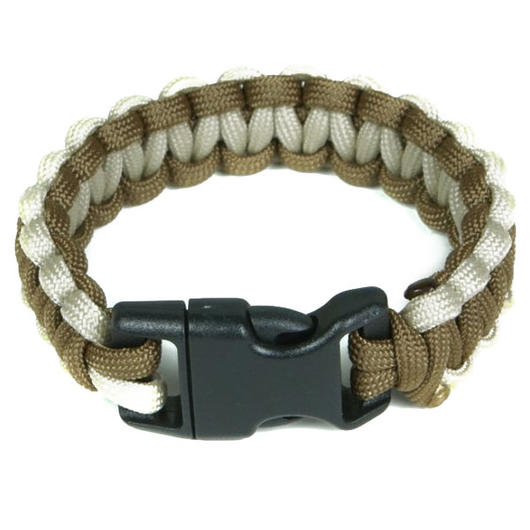 Mil-Spec Cords Cobra Paracord Bracelet coyote / tan