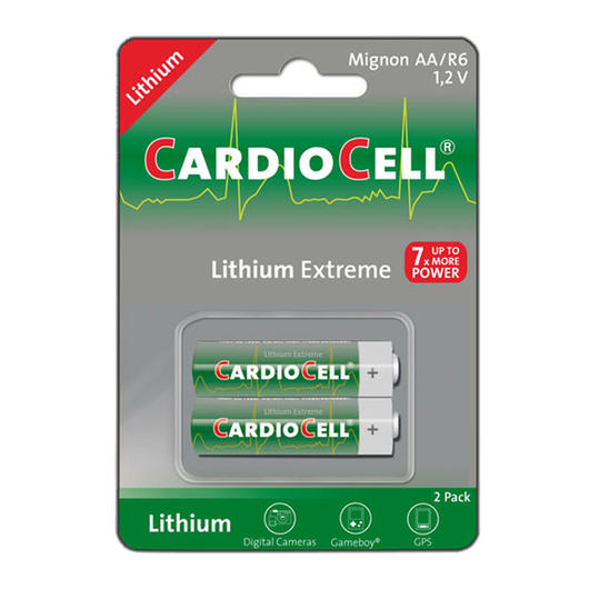 Cardiocell Lithium Extreme Mignonzelle (AA, FR6, L91) 2 Stück