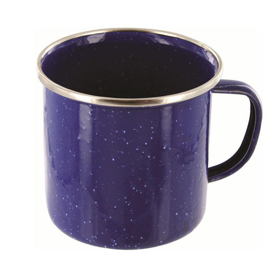 Highlander Tasse Emaille Deluxe 350ml navy