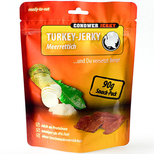 Conower Turkey Jerky Meerrettich 90 g