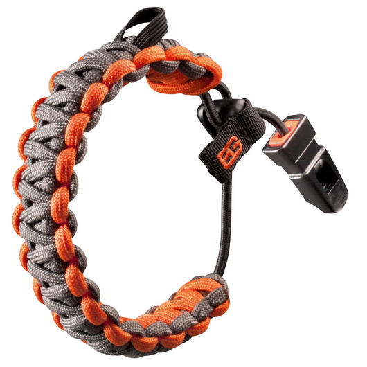 Bear Grylls Paracord Survival Armband Bracelet orange silber