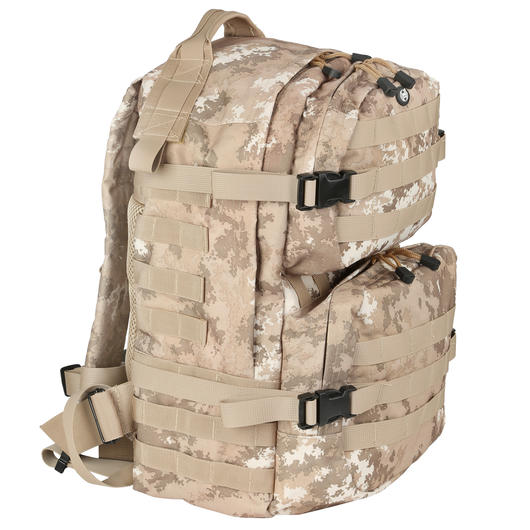 MFH Rucksack US Assault II vegetato desert