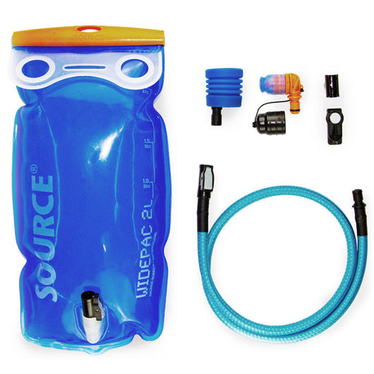 Source Trinksystem Ultimate Hydration System mit Widepac 2L, Helix Bite, UTA Adapter und Magnet Clip