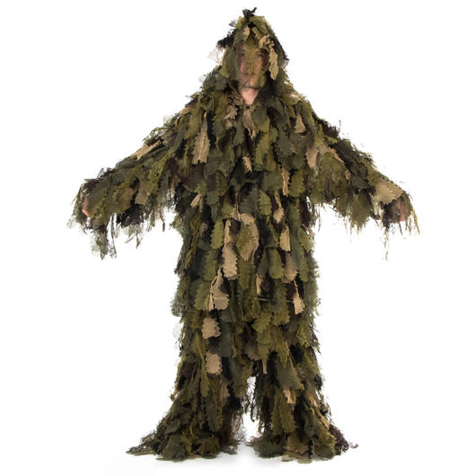 MMB Tarnanzug Ghillie Suit Oak Leaf 3D woodland