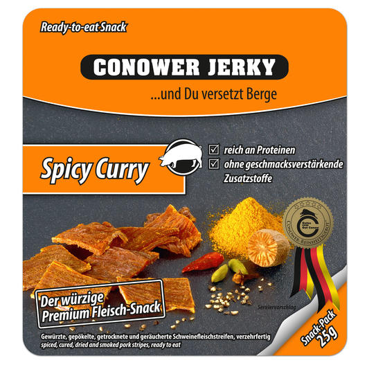 Conower Jerky Spicy Curry 25g