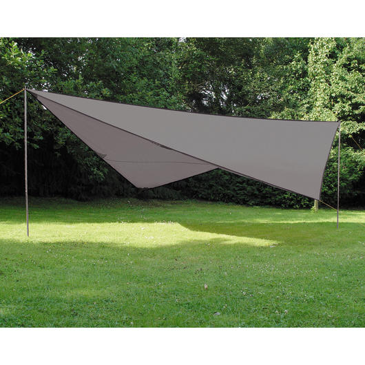 High Peak Sonnensegel Tarp 2 4x4m grau