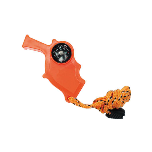 Mil-Tec Notfallpfeife Safety Whistle 4-in-1 orange