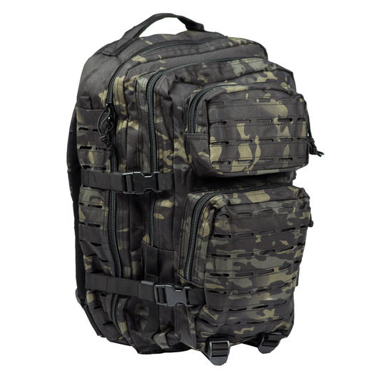 Mil-Tec Rucksack US Assault Pack Laser Cut large 36L multitarn black