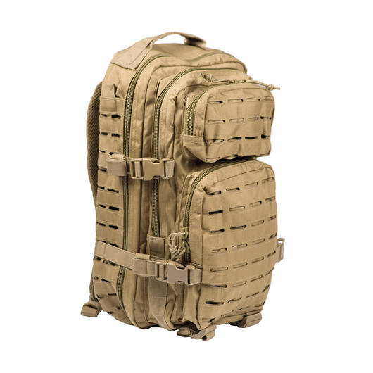 Mil-Tec Rucksack US Assault Pack Laser Cut small 20L coyote