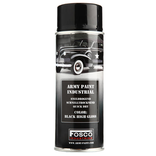 Fosco Sprühfarbe Army Paint Black High Gloss 400 ml