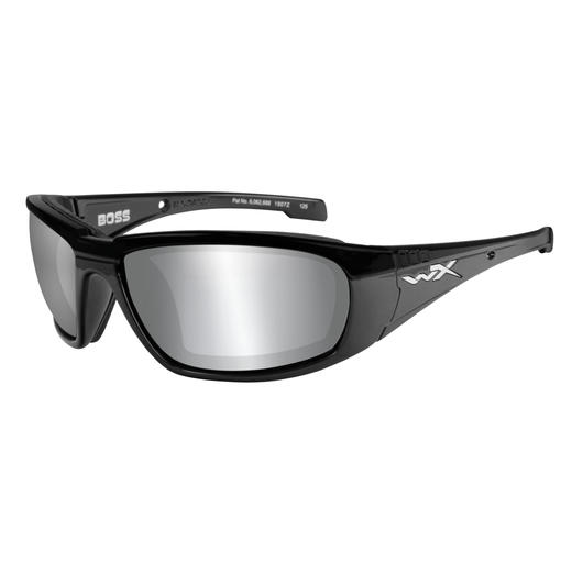 Wiley X Brille Boss gloss black silver flash