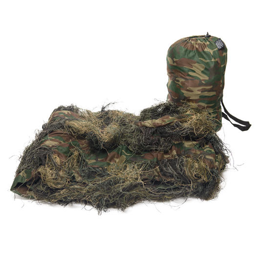 Mil-Tec Ghillie Tarncover Anti Fire 300x200 cm woodland