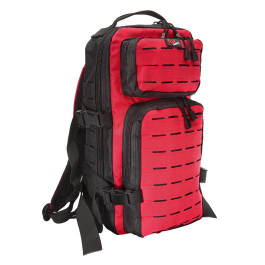 Fox Outdoor Rucksack Assault Travel Laser 20L schwarz/rot