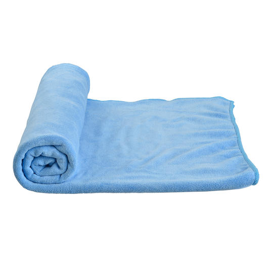 Care Plus Microfaserhandtuch Travel Towel 75 x 150 cm blau