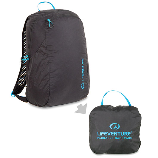 Lifeventure Rucksack Packable Backpack 16 Liter schwarz