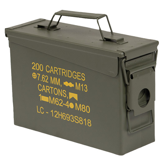 Mil-Tec Munitionskiste US Ammo Box Steel M19A1 cal. 30