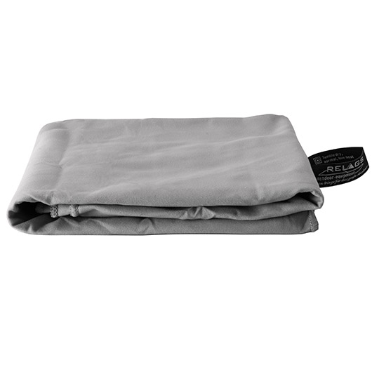 Relags Outdoor-Handtuch Basic Nature Velour 60 x 120 cm grau