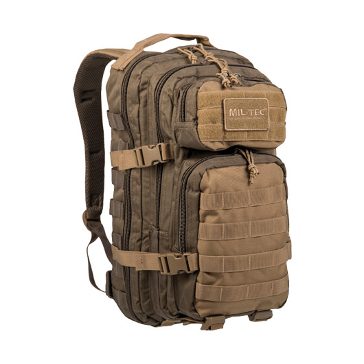 Mil-Tec Rucksack US Assault Ranger Pack 20 Liter green/coyote