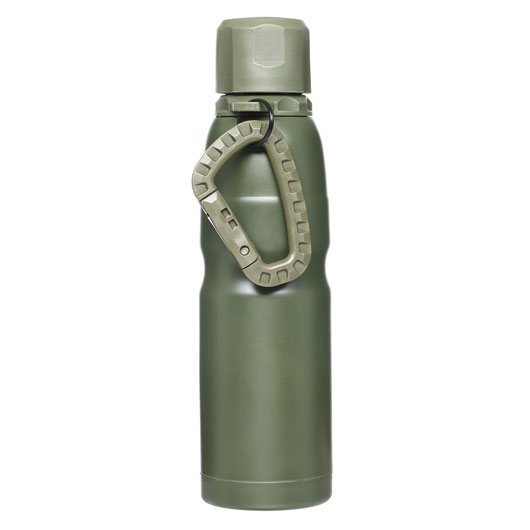 Barbaric Isolierflasche Thermos Bottle 0,5 Liter oliv mit Karabiner
