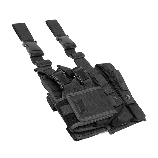 ASG Strike Systems Adjustable Universal Pistolen / SMG Beinholster aschwarz