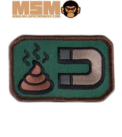Mil-Spec Monkey Shit Magnet Patch Forest 0