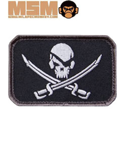 Mil-Spec Monkey Pirate Skull Flag Patch Swat 0