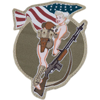 Mil-Spec Monkey BAR-Girl Patch Farbig 0