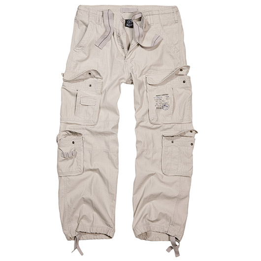 Brandit Cargohose Pure Vintage Trousers old white