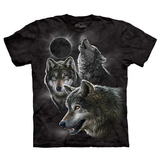 Mountain T-Shirt Eclipse Wolves