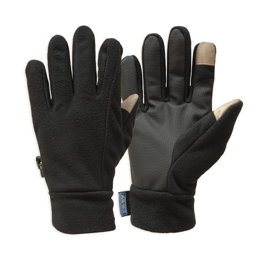 Highlander Handschuhe Fleece Touch Screen schwarz