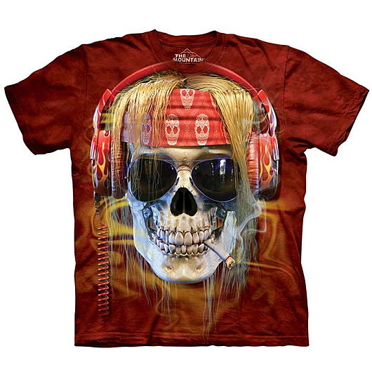 Mountain T-Shirt Rocker Skull