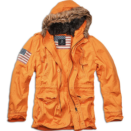 Brandit Jacke Vintage Explorer Stars & Stripes orange