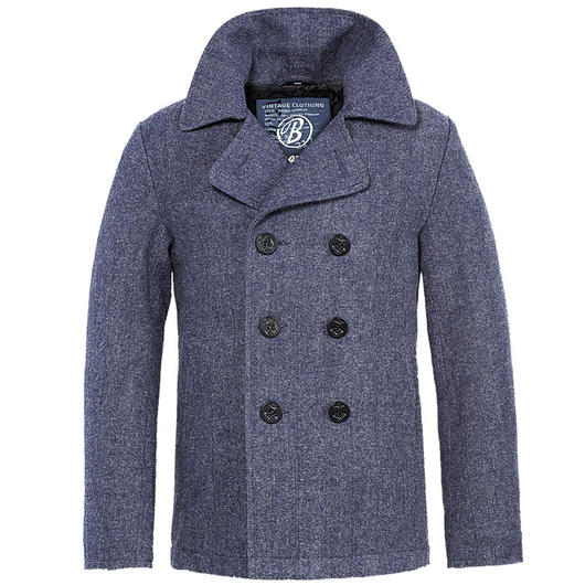 Brandit Jacke Pea Coat denimblue