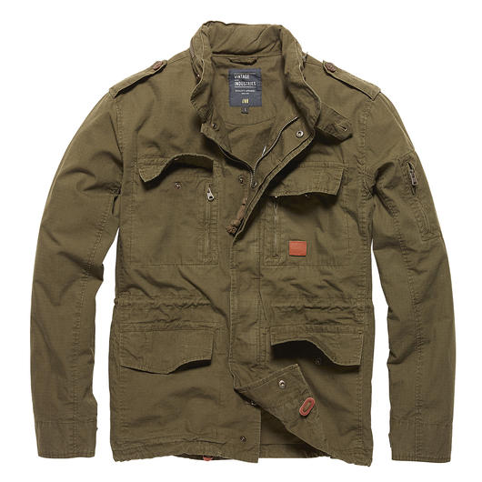 Vintage Industries Jacke Cranford dark olive