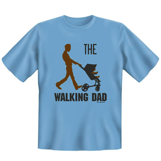Rahmenlos T-Shirt Walking Dad blau