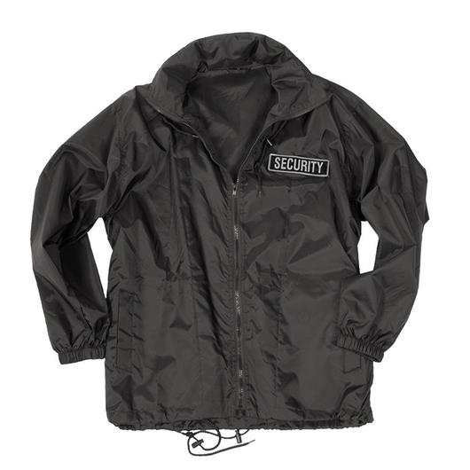 Mil-Tec Windbreaker Jacke Security Schwarz
