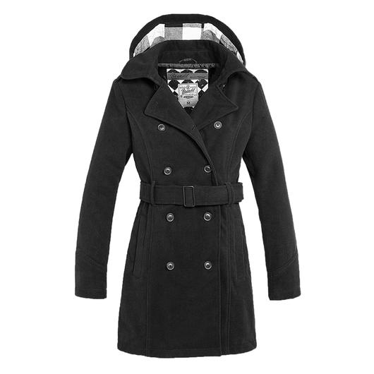 Brandit Damen Mantel Girls Coat Long schwarz