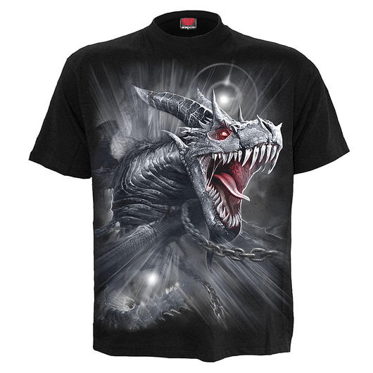 Spiral T-Shirt Dragon´s Cry schwarz