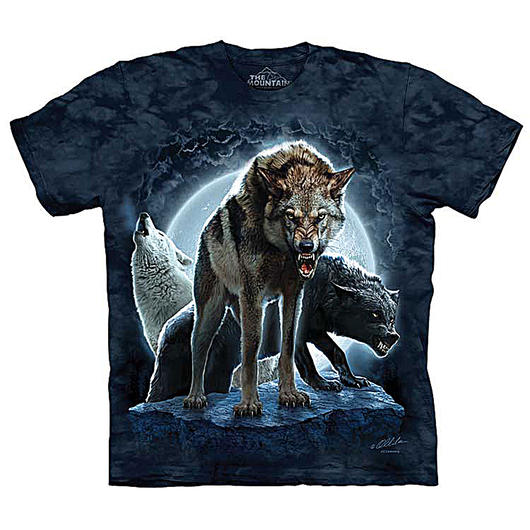 The Mountain T-Shirt Bad Moon Wolves