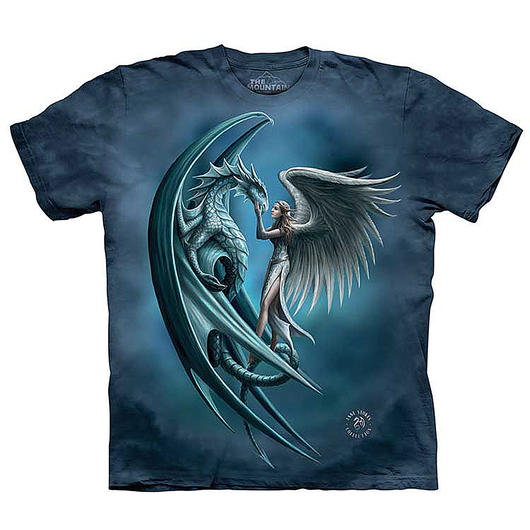 The Mountain T-Shirt Angel & Dragon Fantasy