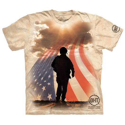 The Mountain T-Shirt Soldier Silhouette Oht-Hero
