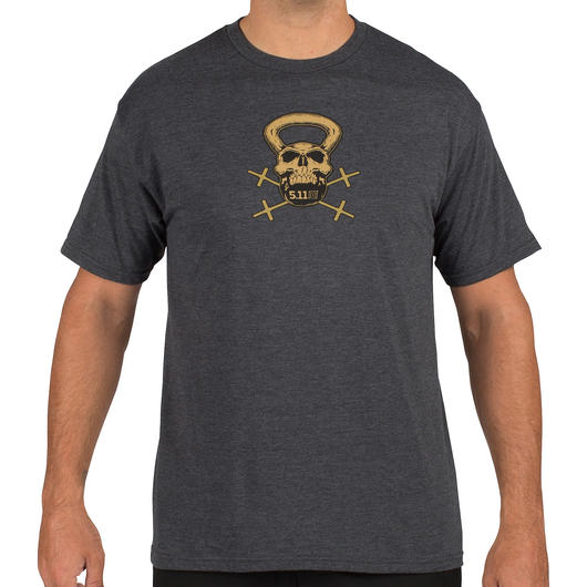 5.11 T-Shirt Recon Skull Kettle charcoal heather