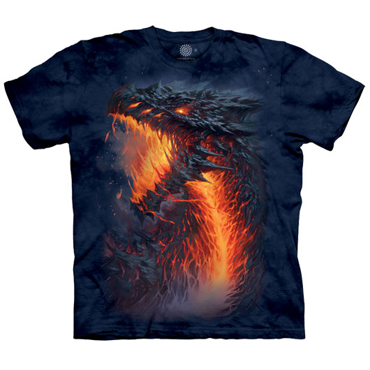 The Mountain T-Shirt Lavaborn Dragon Fantasy